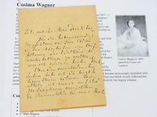 Cosima Wagner Music Promoter Wife Richard Wagner Parsifal Founder Bayreuth Festival Festspielhaus Hand Written Letter