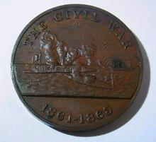 Civil War US Navy Service Medal United Stated Heavy Medal 1861 1865
