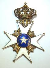 Claes Westring Order of Polar Star Royal Northern Star 18K Gold Nescit Occasum Swedish Consul General Antique Gilt Medal with Historic provenance