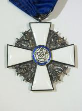 Claes Westring Swedish Consul General Vintage Norse Nordic Maltese Cross  Ribbon Medal with Historic provenance