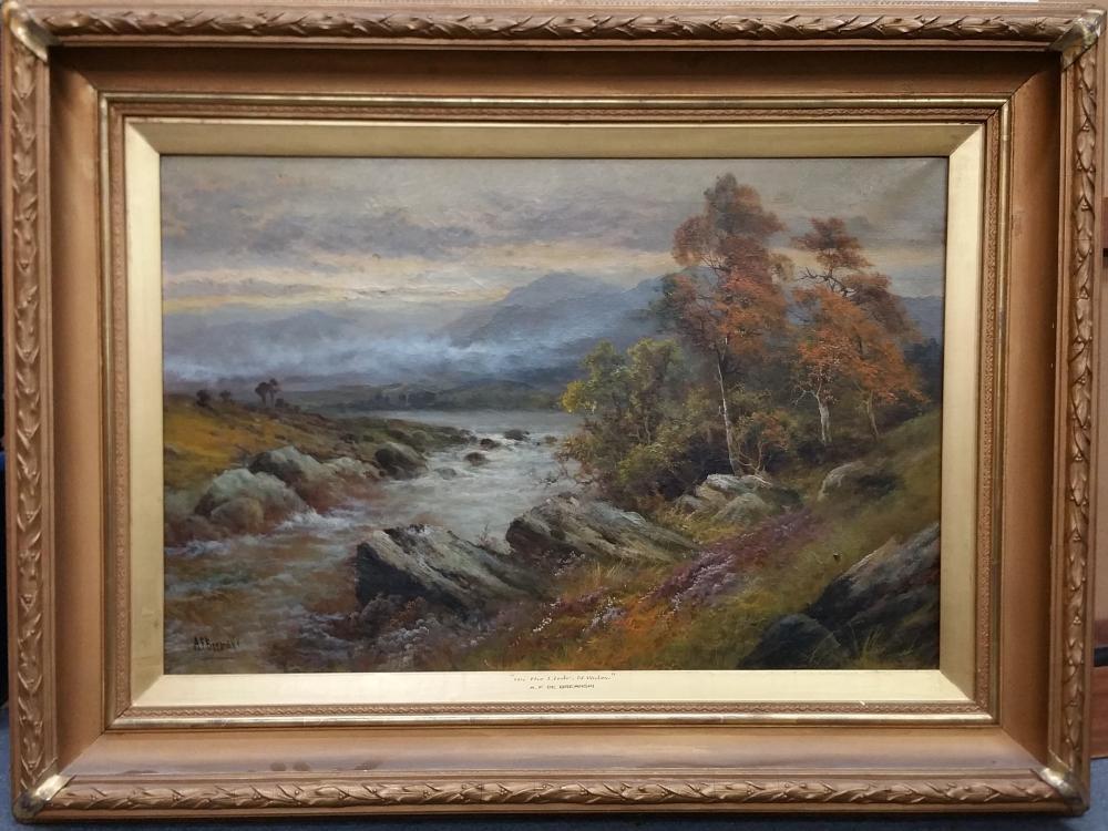 Fine Large Original Alfred Fontville A.F. de Breanski Luminous Landscape Painting Welsh