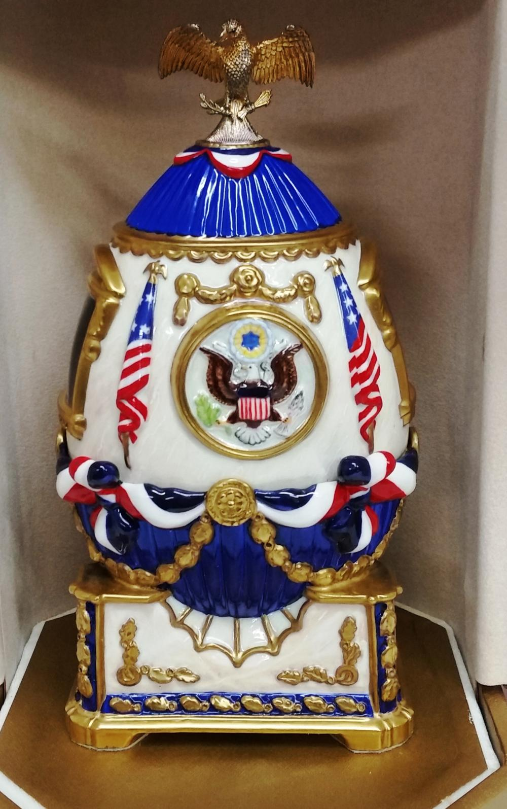 Theo Faberge Limited Edition White House Egg 200th Anniversary 230/325 Kentucky Orig Box