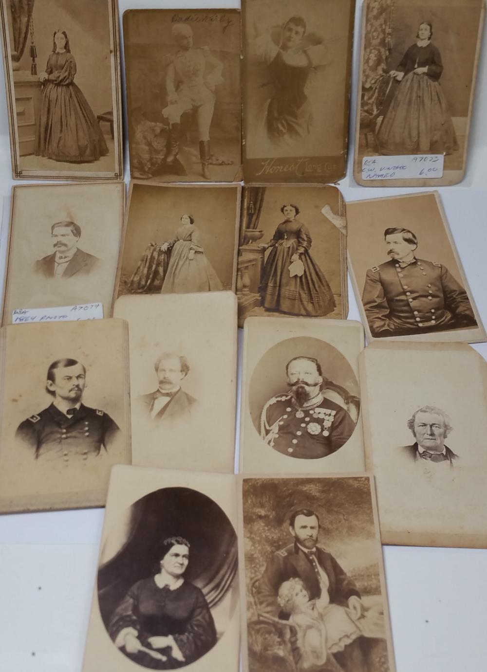 Civil War Era Antique Male Portrait Risque Female Photographs