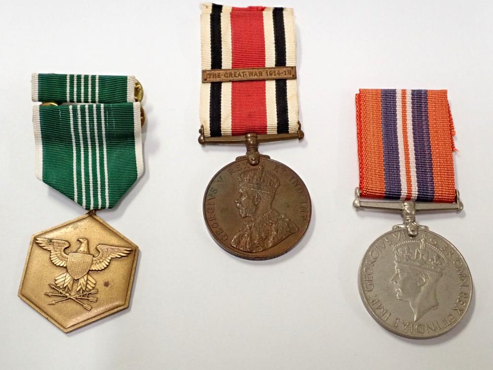 Lot of 3 Old Military Medals w RARE WWI British Constabulary Medal