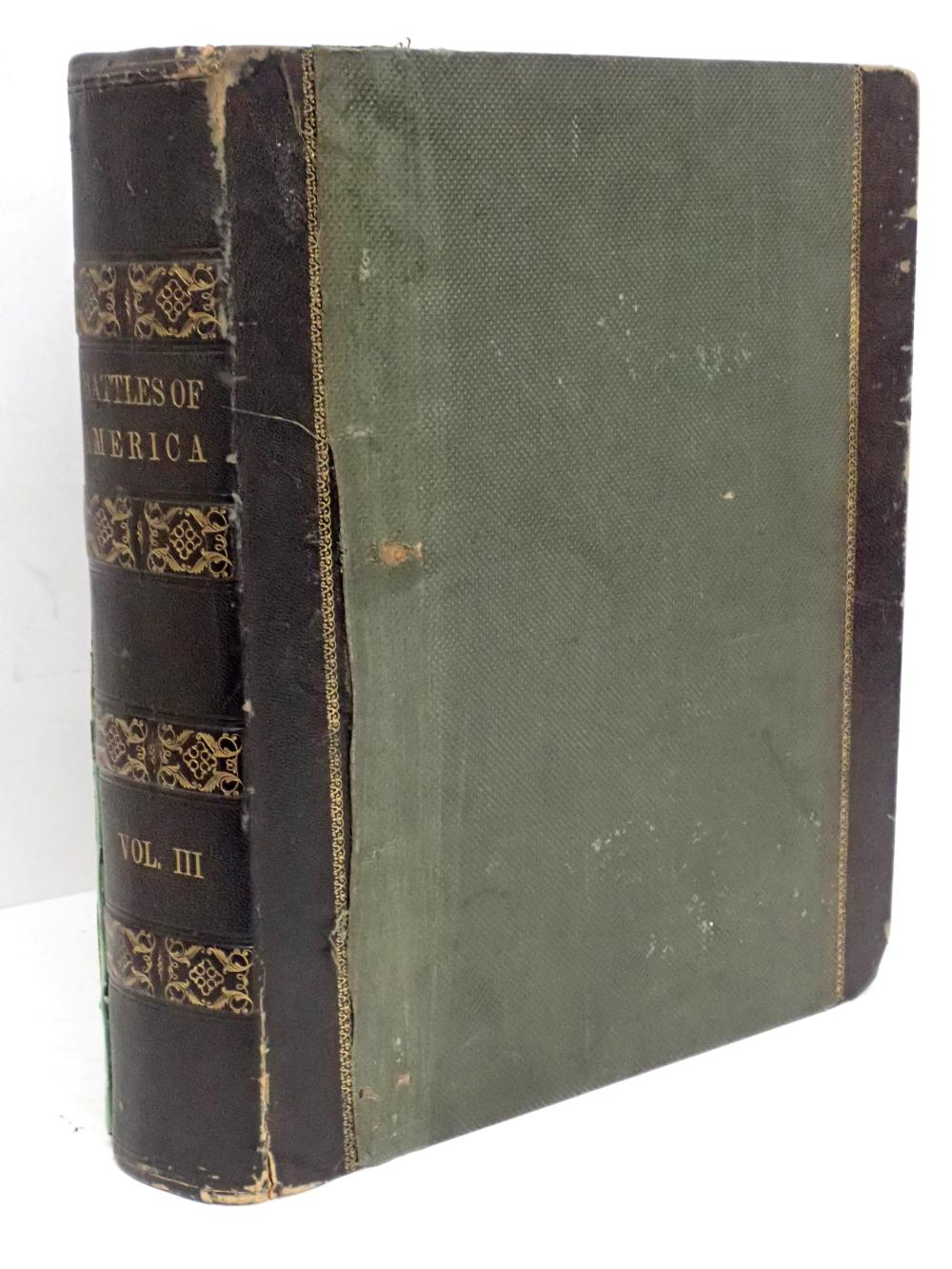 Huge 1861 Civil War Book: Battles of America by Sea and Land Vol III