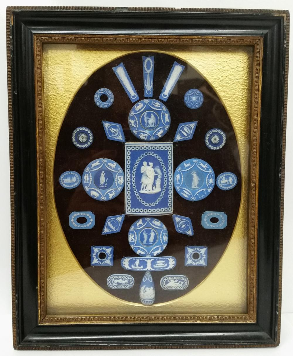 Trapnell Antique Wedgwood Jasperware Blue White Cobalt Cameo Collection