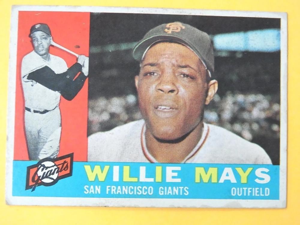 1960 Topps Willie Mays San Francisco Giants No 200 Mlb