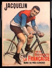 JACQUELIN SUR SA BICYCLETTE LA FRANÇAISE, Unknown Artist