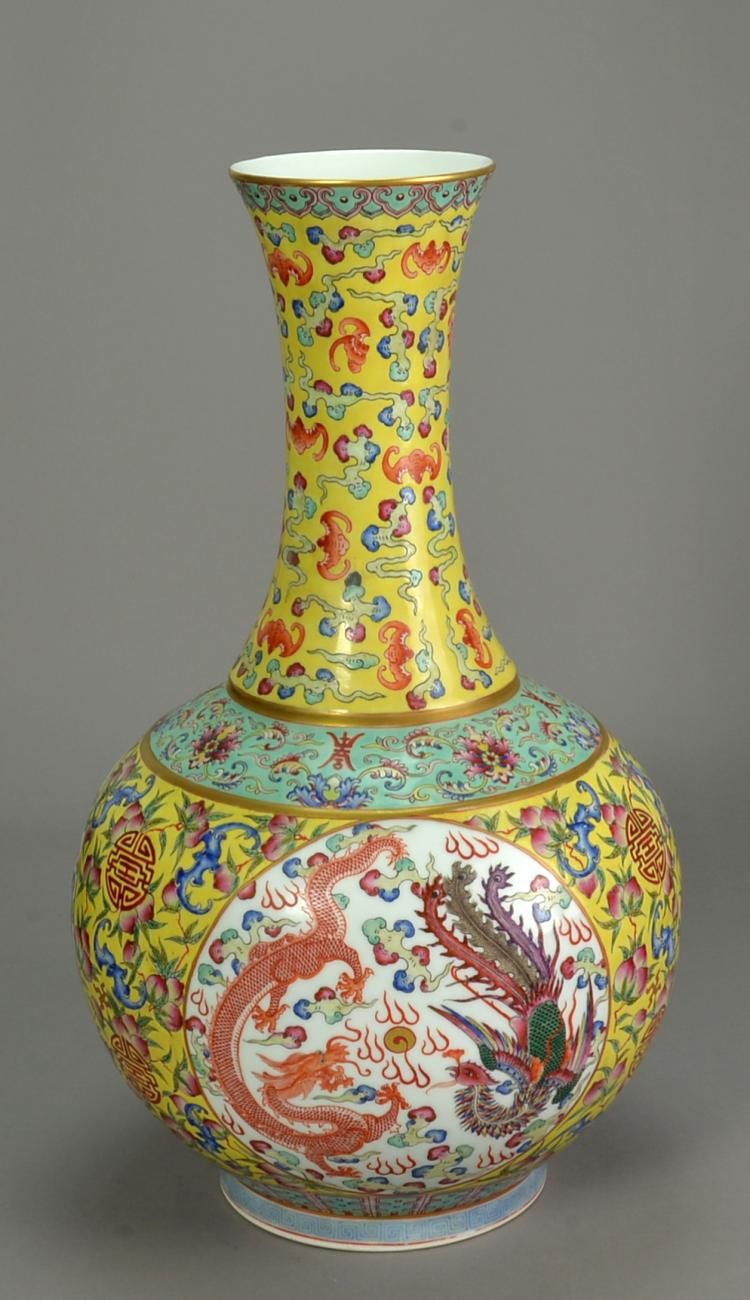 Chinese antique famille rose vase for Asian antiques uk