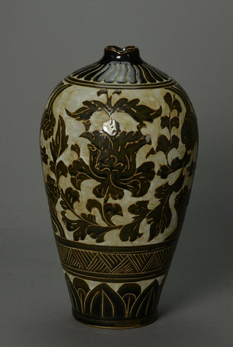 Chinese antique cizhou yao meiping vase for Asian antiques uk