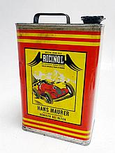 A Rare Pictorial 2-Gallon Oil Can, French, 1930s