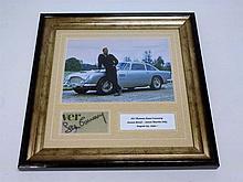 Sean Connery / James Bond Aston Martin DB5 Signed Presentation