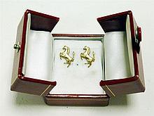 Solid Gold Ferrari 'Prancing Horse' Earrings