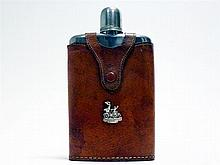 A Leather-Covered Drinks Flask