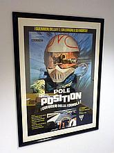 Framed/Glazed Large 'Pole Position' Movie Poster