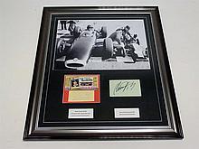 Graham and Damon Hill Signed Photographic Presentation