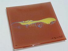 Rare Andy Warhol (Rosenthal Studio Line) Mercedes-Benz Glass Plate