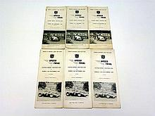 Chateau Impney Speed Trial Programmes