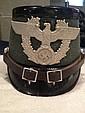 WWII Nazi Police Helmet Label Berlin