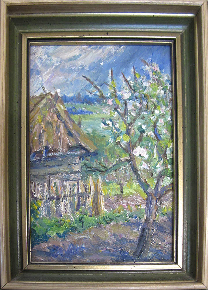 Landscape with barn oil painting for Oil paintings for the home
