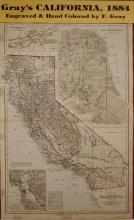 Map of California 1884