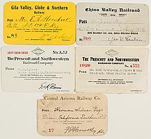Arizona Railroad Pass Collection