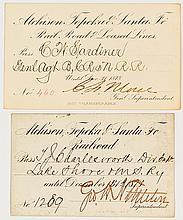 Atchison, Topeka and Santa Fe Railroad Passes (1870s)