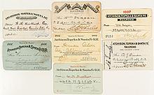 Atchison, Topeka and Santa Fe Railroad Passes (1880s-1890s)