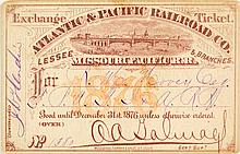 Atlantic & Pacific Railroad (Missouri Pacific Railroad) Pass (1876)