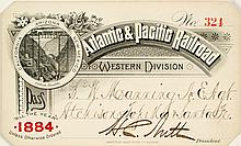 Atlantic & Pacific Railroad (Western Division) Annual Pass (1884)