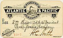 Atlantic & Pacific Railroad Co. Annual Pass (1882)