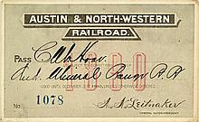 Austin & North-Western Railroad Annual Pass (1890)