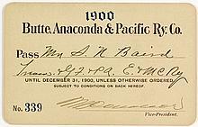 Butte, Anaconda & Pacific Railroad Pass