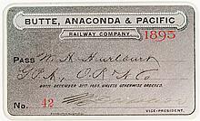 Butte, Anaconda & Pacific Railway Pass (1895)