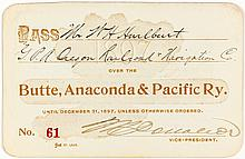 Butte, Anaconda & Pacific Railway Pass (1897)