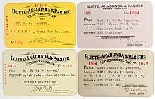 Butte-Anaconda & Pacific Railway Co. Annual Passes (4)