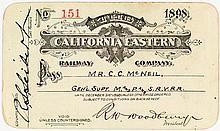 California Eastern Railway Pass (1898) (Formerly Nevada Southern Railway)