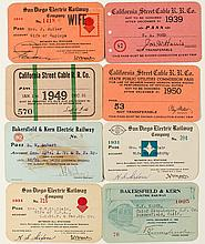 California Electric & Cable Railroads Annual Pass Collection