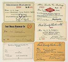 California Lumber Railroads Annual Pass Collection