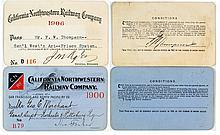 California Northwestern Railway Co. Pass Duo (1900 & 1906)
