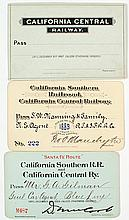 California Southern Railroad / California Central Railroad Pass Group