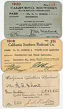 California Southern Railroad Pass Collection