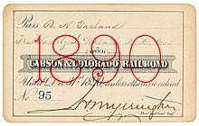 Carson & Colorado Railroad Pass (1890)