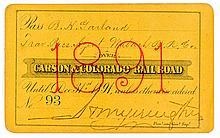 Carson & Colorado Railroad Pass (1891)