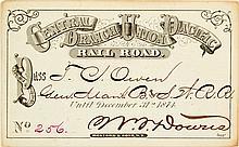 Central Branch Union Pacific Railroad Annual Pass (1874)