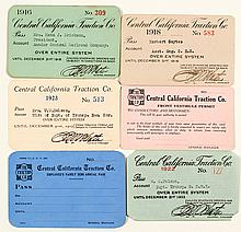 Central California Traction Co. Pass Collection