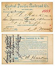 Central Pacific Railroad Pass (1885)