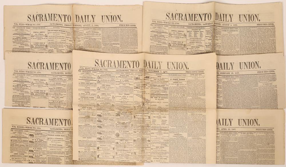Sacramento Union Newspapers (7) [127009]