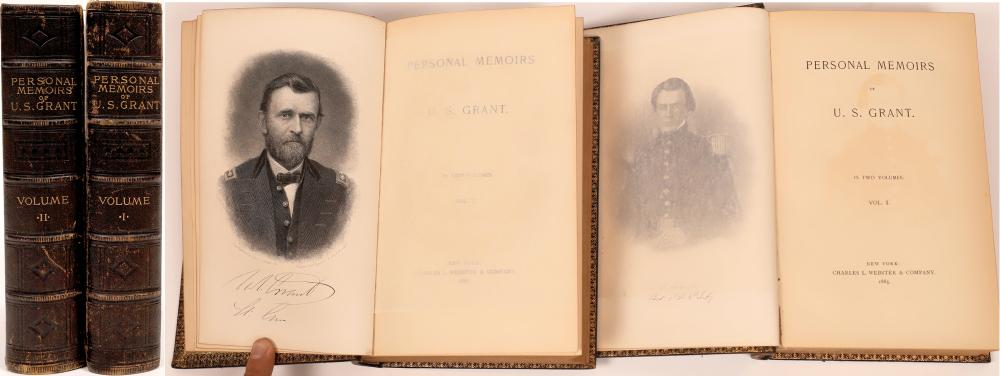 U.S. Grant Memoirs, 2 vol, 1885 [141152]