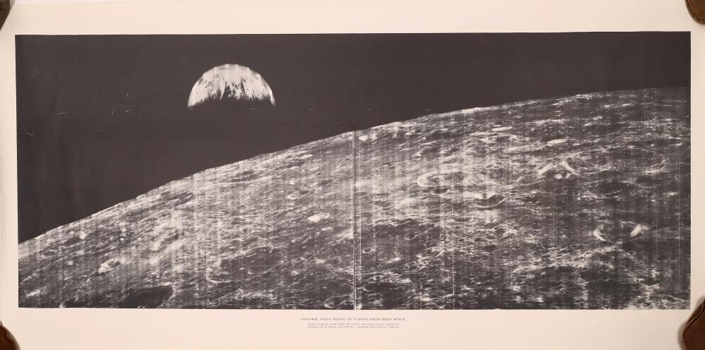 Historic First Photo of Earth from Deep Space - B&W Poster [138758]